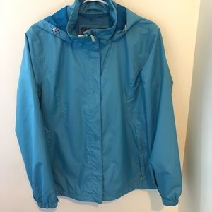 Eddie Bauer Blue Weather Edge waterproof raincoat